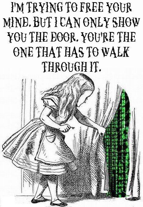 show you the door